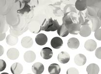 Konfetti Kreise - Silber Metallic