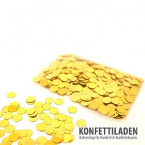 6mm gold metallic Konfetti Kreise