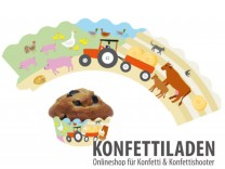 Cupcake Banderolen - Bauernhof