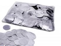 55mm Konfetti Kreise - Silber Metallic