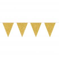 Wimpelkette | Gold Glitter  | 6m