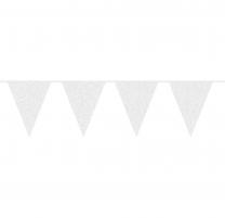 Wimpelkette | White Glitter | 6m