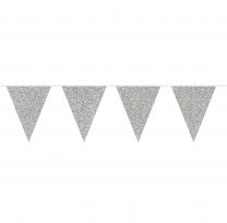 Wimpelkette | Silver Glitter | 6m