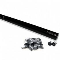 80cm Hand Konfetti Shooter -PRO- Streamer Metallic - Silber