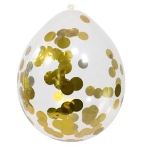 Konfetti Luftballons - Gold Metallic - 4er Set