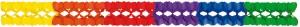 Girlande Multicolor 16x16x400cm | schwer entflammbar