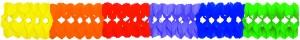 Girlande Multicolor 26x26x650cm | schwer entflammbar