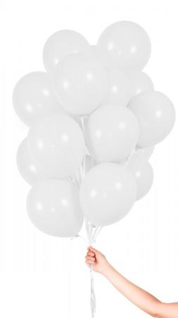 30 Luftballons - Weiss - Set