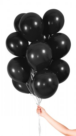 30 Luftballons Schwarz - Set