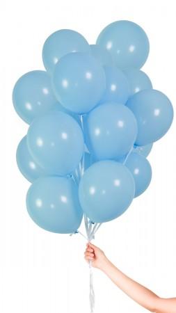 30 Luftballon - Hellblau - Set