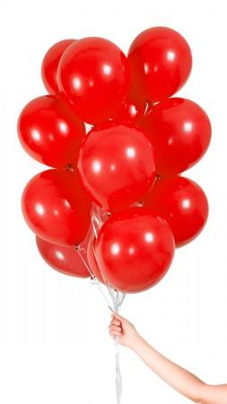 30 Luftballons - Rot - Set