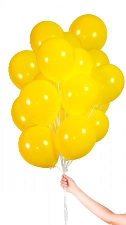 30 Luftballons - Gelb - Set