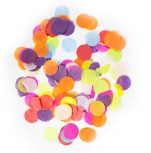 2,5m Papier Kreise - Multicolor Mix