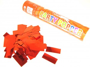 Party Popper - Rot metallic Konfetti