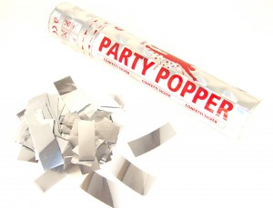 Party Popper - Silber metallic Konfetti