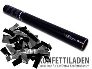 50cm Konfetti Shooter - Bicolor - Silber/Schwarz