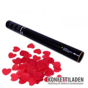 50cm Hand Konfetti Shooter - Papier Herzen - Rot