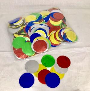 55mm Konfetti Kreise - Multicolor Metallic