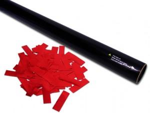 80cm Hand Konfetti Shooter -PRO- Metallic Konfetti - Rot