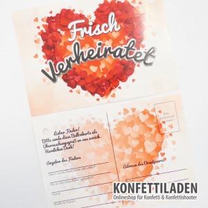 50 Ballon Weitflug Karten - Frisch verheiratet