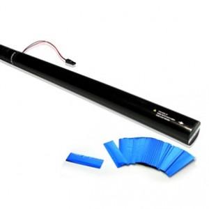 80cm E- Konfetti Shooter - Blau Metallic Konfetti