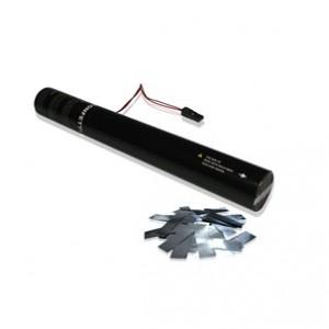 50 cm E-Konfetti Shooter - Metallic Konfetti - Silber