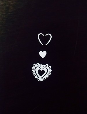 Streukonfetti - Herzen - Weiß