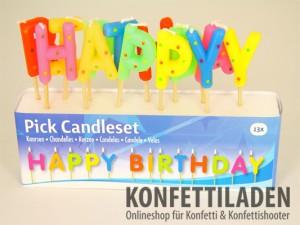 Happy Birthday - Kerzen Set