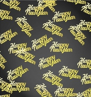 Tischkonfetti - Happy New Year - Gold metallic