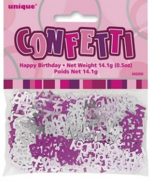 Tischkonfetti - Happy Birthday - Pink Silber Mix