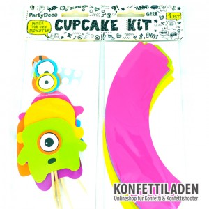 6er Set Monster Party Cupcake
