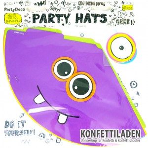6er Set Monster Party - Party Hüte