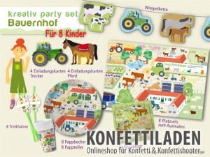 kindergeburtstag party set bauernhof. Black Bedroom Furniture Sets. Home Design Ideas
