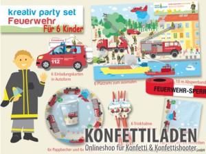 Kreativ Partyset - Feuerwehr