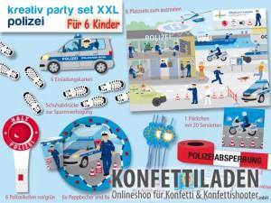 XXL Kreativ Partyset - Polizei