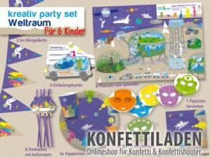Kreativ Partyset - Weltraum