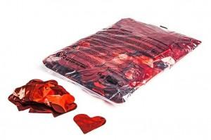 Metallic Herzen - Rot