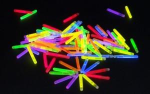 50 Mini Knicklichter 38x4,5mm - Multicolor