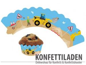 Muffin - Cupcake Banderole - Baustelle
