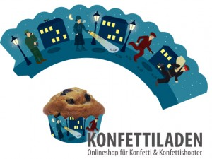 Cupcake Banderole - Detektiv