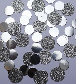 Tischkonfetti - Kreise Silber -