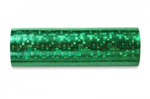 Hologramm Luftschlangen - Grün