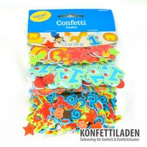 Tischkonfetti - 1. Geburtstag Junge - Big Pack