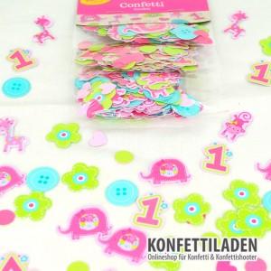 Tischkonfetti - 1. Geburtstag Mädchen - Big Pack