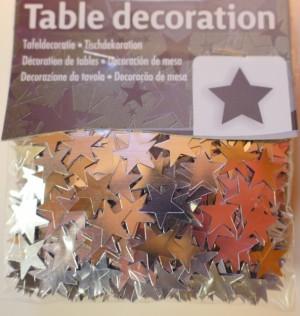 Streukonfetti - Metallic Sterne - Silber