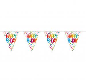 Wimpelkette | Happy Birthday | Rainbow Dots