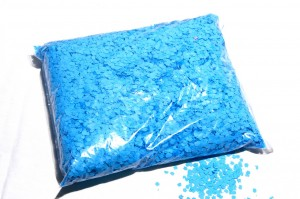 Klassisches Wurfkonfetti - Hellblau
