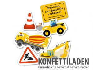 XXL Konfetti - Baustelle