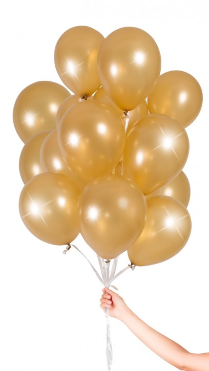 30 Luftballons - Gold Metallic - Set