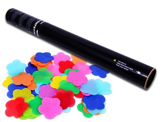 50 cm Konfettikanone - Bunte Blumen Konfettis
